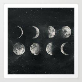Moon Phase Art Print