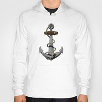 anchor Hoodies featuring Anchor by MacDonald Creative Studios