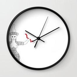 Minoan Snake Goddess Wall Clock