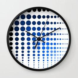 Blue dot, dot, dot Wall Clock