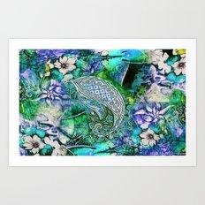blue india Art Print