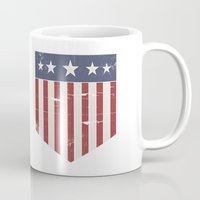 flag Mugs featuring Flag by Emma Harckham
