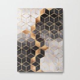 Smoky Cubes Metal Print