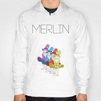 merlin Hoodies featuring Merlin by MajorTom