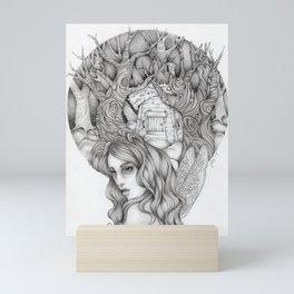 JennyMannoArt GRAPHITE DRAWING/FAIRIE Mini Art Print