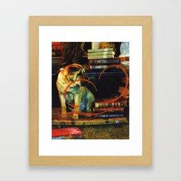 Paper Dog Framed Art Print