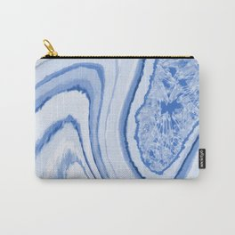 Blue Crystal Watercolor Effect Design Carry-All Pouch