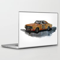 general Laptop & iPad Skins featuring General Lee by AshyGough
