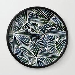 Dark Acquamesh Wall Clock