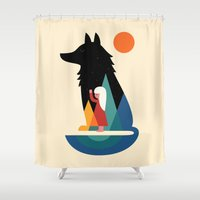 best friend Shower Curtains featuring Best Friend by Andy Westface