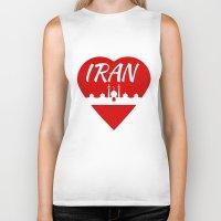 arab Biker Tanks featuring Iran by mailboxdisco