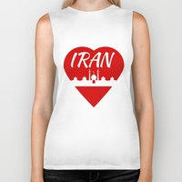 islam Biker Tanks featuring Iran by mailboxdisco