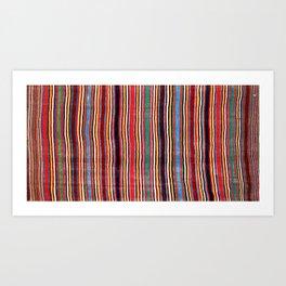 Qashqa'i Antique Fars Southwest Persian Striped Kilim Print Kunstdrucke