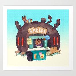 Bakery - Deer Art Print