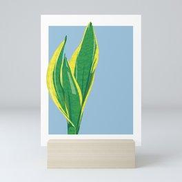 Snake Plant Illustration - Portrait of Selena 02 Mini Art Print