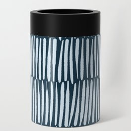 Inspired by Nature | Organic Line Texture Dark Blue Elegant Minimal Simple Can Cooler
