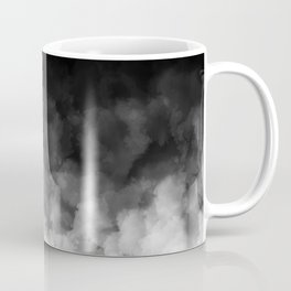 Ombre Black White Clouds Minimal Coffee Mug