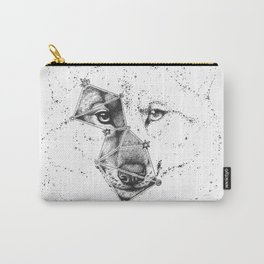 Wolf constellation (Lupus) || Black & White Carry-All Pouch
