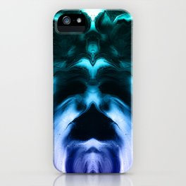 abstract psychedelic paint flow ghost face c4 iPhone Case