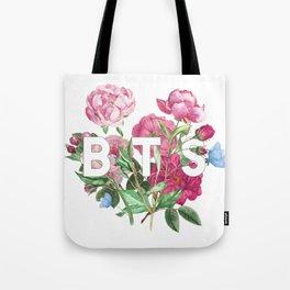 BTS Flowers Tote Bag