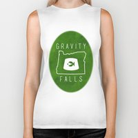 fez Biker Tanks featuring Gravity Falls - Grunkle Stan's Fez (Original) by pondlifeforme