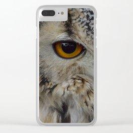 Eurasian eagle-owl, wild bird Clear iPhone Case