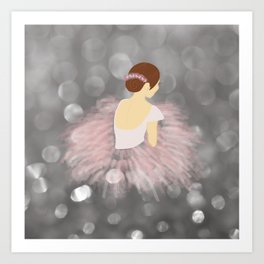 Ballerina Dancer V2 Art Print