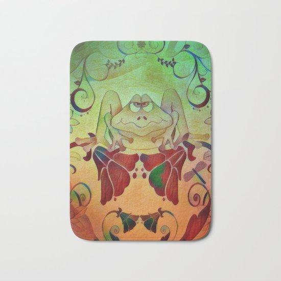A Frogs World Bath Mat