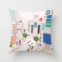 Shibuya 109 Throw Pillow