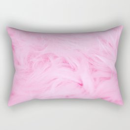 Pink Feathers Rectangular Pillow