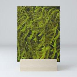 Pellucidar Sap Green Abstract Mini Art Print