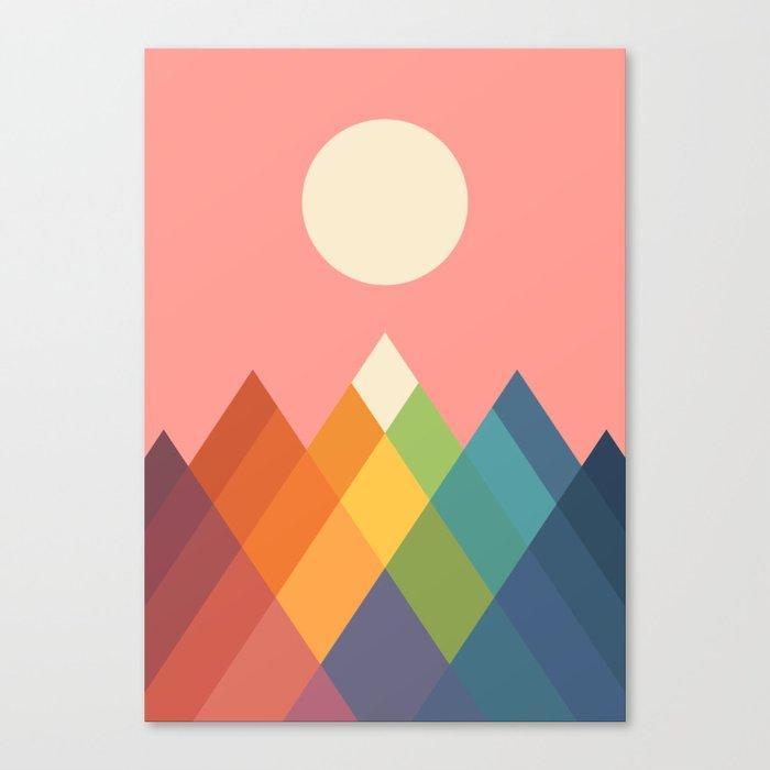 Rainbow Peak Leinwanddruck