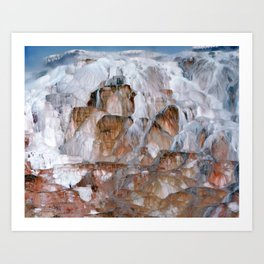 Mammoth Hot Springs Yellowstone Art Print