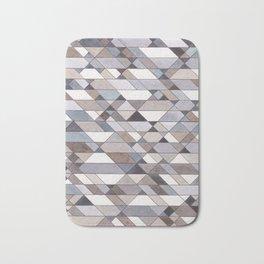 Triangle Pattern no.22 grays Bath Mat