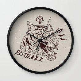 wildbeasts #2 - PANTHERA Wall Clock