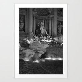 trevi b&w 2 Art Print