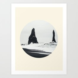Black Sand Beach Iceland Art Print
