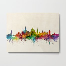 Oxford England Skyline Metal Print