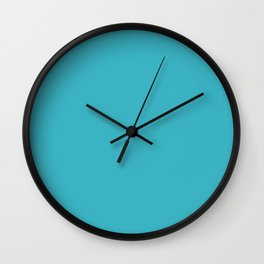 Solid ocean blue Wall Clock
