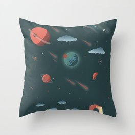 Moon Minimalist Poster Throw Pillow