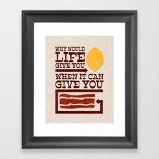 Good Point Framed Art Print