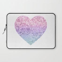 Unicorn Girls Glitter Heart #1 #shiny #pastel #decor #art #society6 Laptop Sleeve
