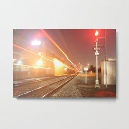 Fast moving train Metal Print