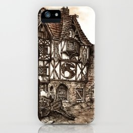 Medieval Town iPhone Case
