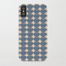 Lips Monochrome Pattern iPhone X Slim Case