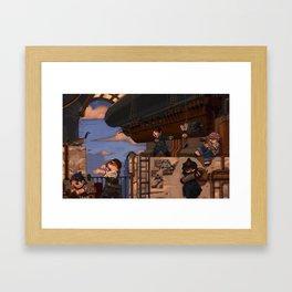 Airship Hangar Framed Art Print