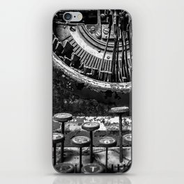 Typing histories iPhone Skin