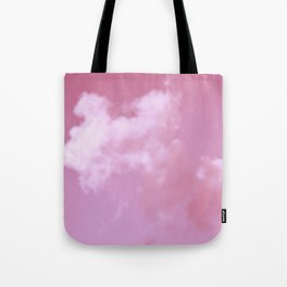 Dreaming floating candy on pink Tote Bag