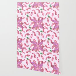 Flamingo rose Wallpaper
