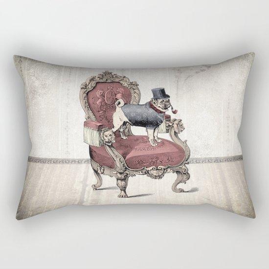 The Imperial Pug Rectangular Pillow